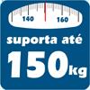 Cama Box Base Castor Closet Poli Tecido Black -  Suporte de Peso da Cama Box