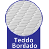 Bicama Ortobom Americana Cori Bianco Vaz s/Auxiliar -  Tipo de bordado do tecido do tampo da Cama Box