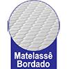 Colchão Auxiliar Ortobom Cori Bianco -  Tipo de bordado do tecido da lateral da Cama Box