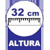 Bicama Ortobom Americana Cori Bianco Vaz s/Auxiliar -  Altura com os pés