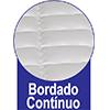 Colchão Auxiliar Ortobom Cori Bianco -  Tipo de bordado do tecido do tampo da Cama Auxiliar