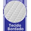 Colchão Auxiliar Ortobom Cori Bianco -  Tipo de bordado do tecido da lateral da Cama Auxiliar