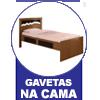 Sofá Cama Conquista Puff c/ 2 Gavetas -  Vantagens Extras do sofá cama