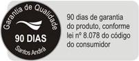 Guarda Roupa Santos Andirá Click  3.6  c/ Espelho -  Garantia