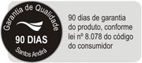Beliche Santos Andirá Havana Plus 3 gavetas Cor Branco/Branco -  Garantia