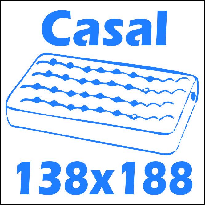 Cama Casal Santos Andirá Havana Plus/ Invicta c/Baú -  Tamanho do colchão para usar na cama