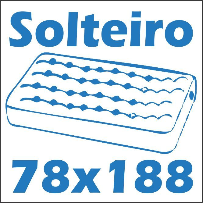 Bicama Multimóveis Com Baú 5009 -  Tamanho do colchão para usar na cama
