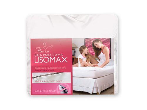 Saia Cama Casal Box Fibrasca Lisomax