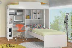 Beliche Módulo Office Teen Santos Andirá  (Módulo Office+Cama Juvenil)