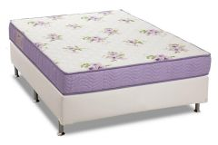 Conjunto Box: Colchão Ortobom Physical Super Resistente + Cama Courino White
