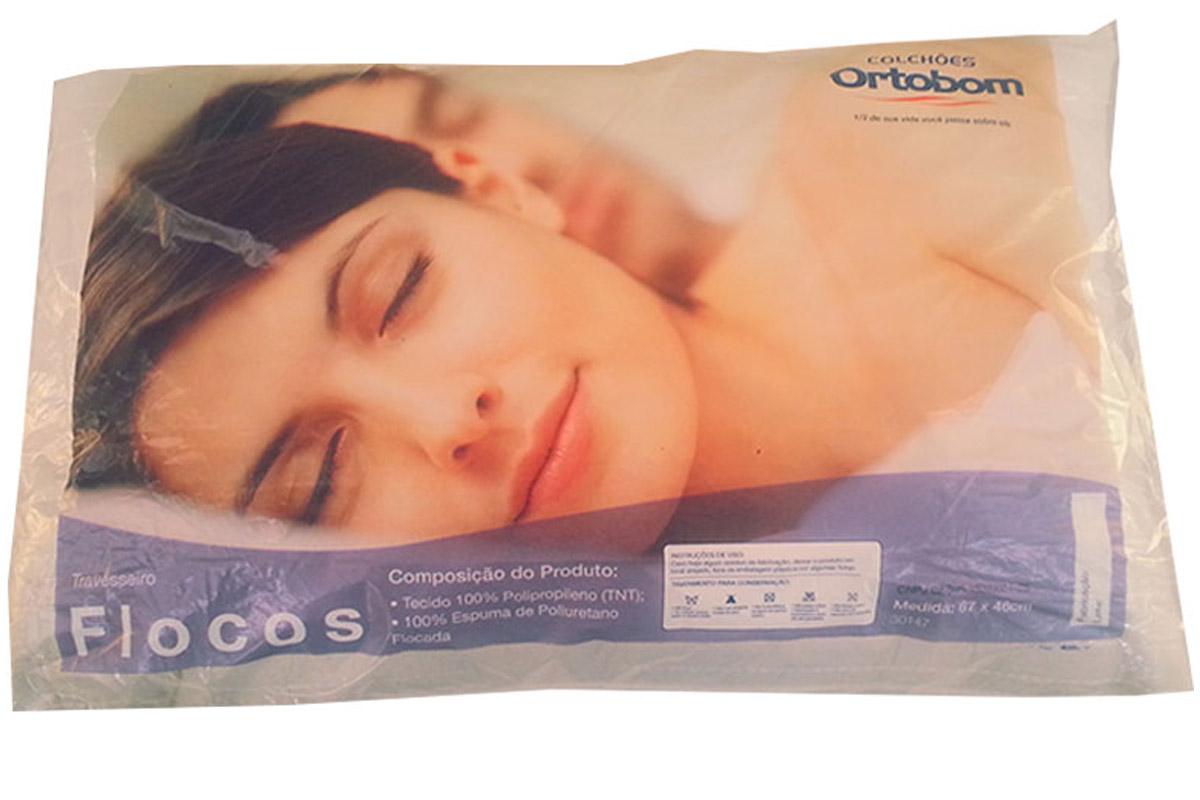 Travesseiro Ortobom Flocos Espuma