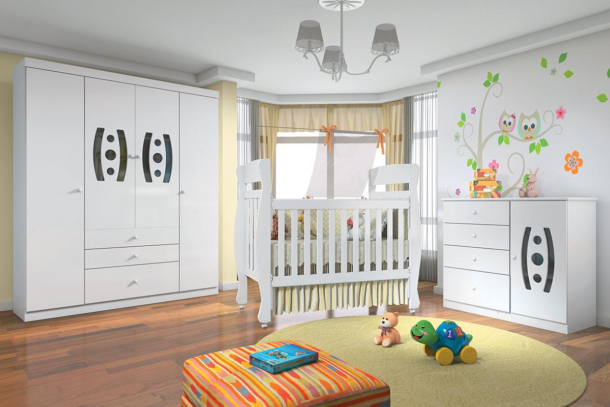 Quarto Infantil Beb Completo Santos Andir Do Ura Sorriso Qi15  ~ Temas Quarto De Bebe Com Armarinho Para Quarto