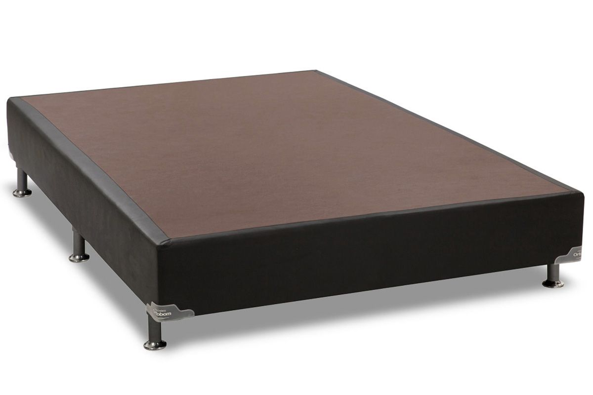 Cama Box Base Americana Ortobom Courino Black 23