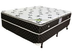 Conjunto Box - Colchão Luckspuma de Molas Pocket Aspen +  Cama Box Universal Couríno Black