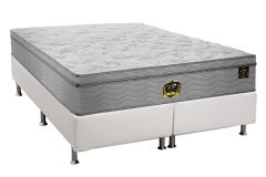Conjunto Box-Colchão Probel Pocket Vip Plus+Cama White