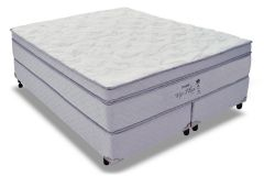 Conjunto Box: Colchão Probel Molas Pocket Vip Plus + Cama Box Courino White