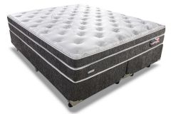 Conjunto Cama Box - Colchão Sealy de Molas Posturepedic Titanium Slipstream Plush + Cama Box Universal Nobuck Black
