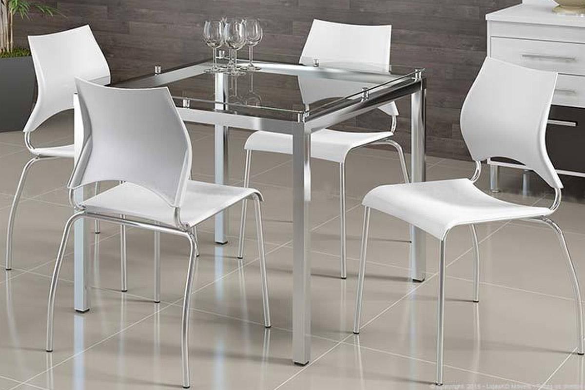 Conjunto de Mesa Carraro 326   4 Cadeiras 357 Cromada até 40% OFF  #70665B 1200x800