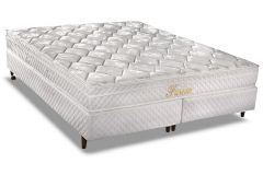 Conjunto Box: Colchão Herval Molas Bonnel Fusion + Cama Box Courino White