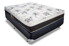 Conjunto Box: Colchão Orthoflex Molas Bonnel Venezia + Cama Box Nobuck Nero Black
