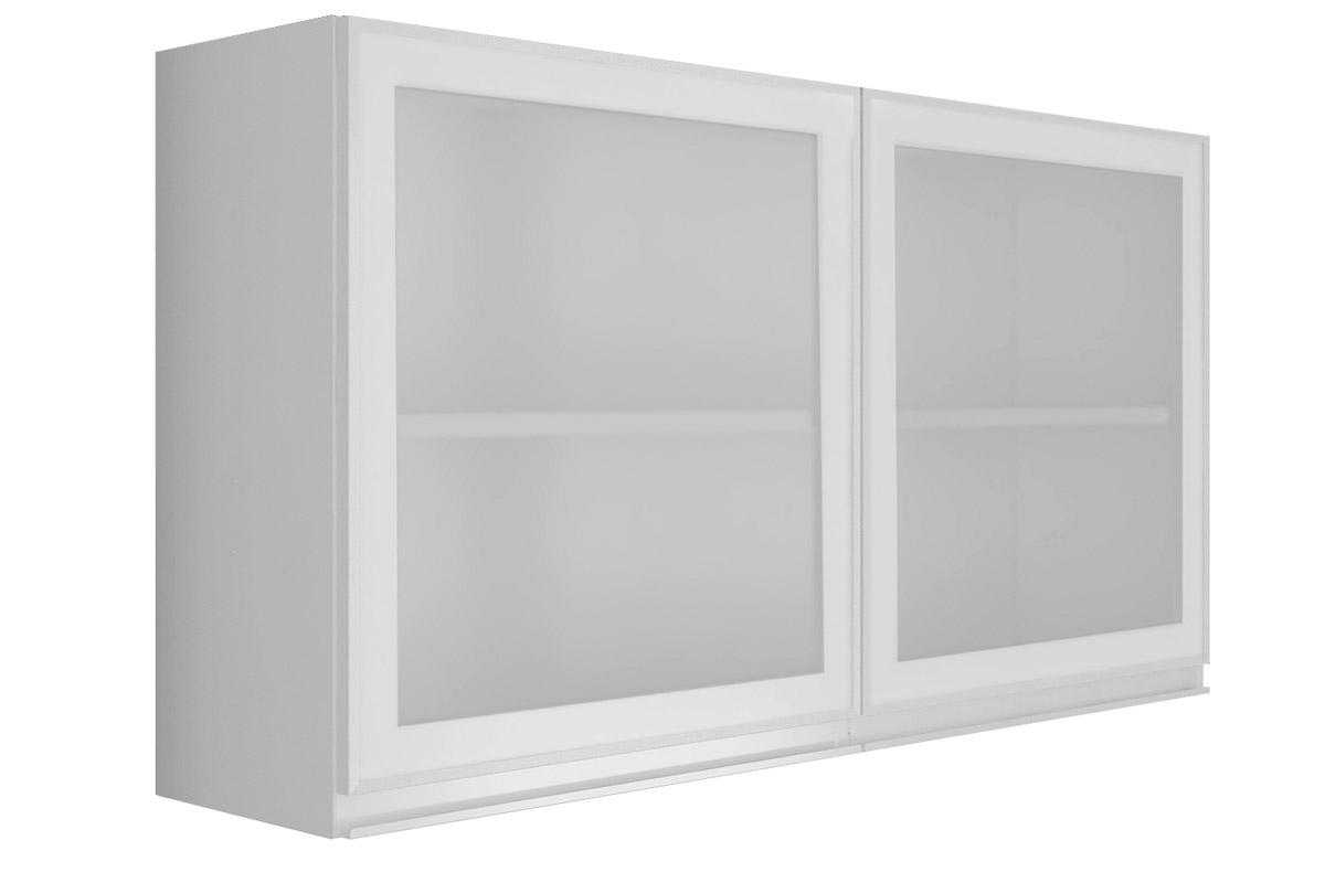 Armário Cozinha Itatiaia Stilo Plus Aço C/ 2 Portas de Vidro 1.20m  #666666 1200 800