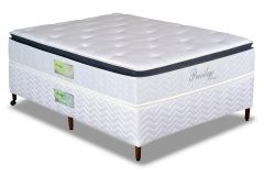 Conjunto Box - Colchão Paropas de Molas Pocket Privilege + Cama Box Universal Couríno White
