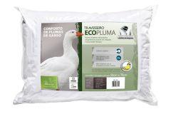Travesseiro Fibrasca Ecopluma Fibras Siliconizada Conforto Penas de Ganso