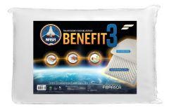 Travesseiro Fibrasca Nasa Benefit 3 Viscoelástico Massageador
