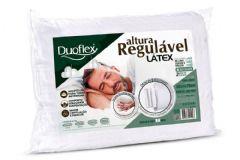 Travesseiro Duoflex Látex 4 Alturas Regulável p/ Fronha 50x70