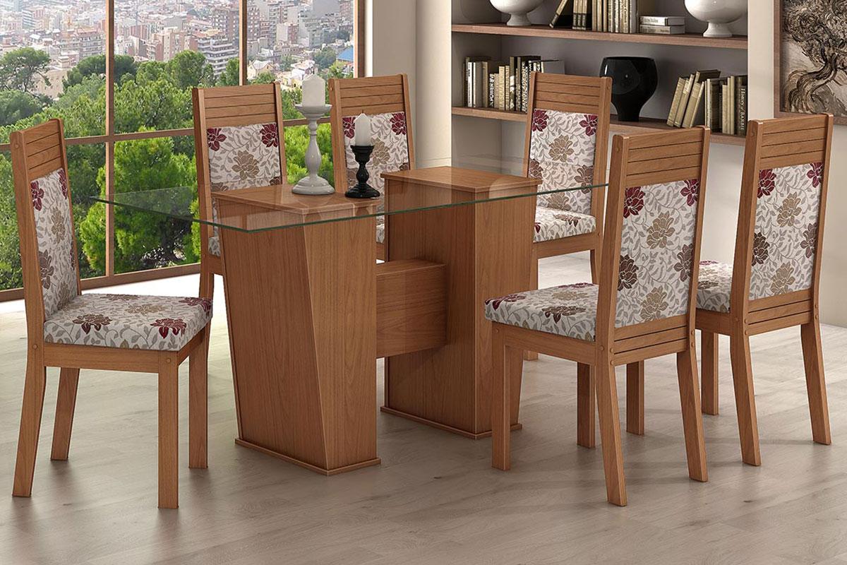 Conjunto Mesa de Jantar Lopas Verona   6 Cadeiras Verona até 40% OFF  #839734 1200x800