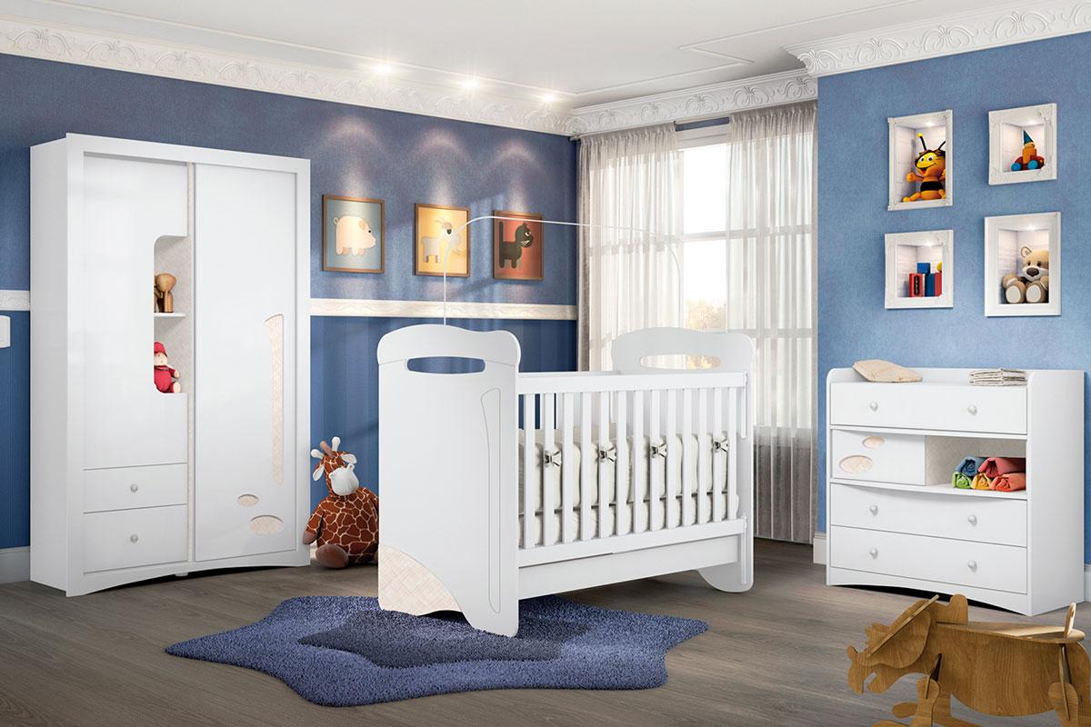 Quarto Infantil (Bebê) Completo Henn Favo de Mel QI10 até  ~ Jogo De Quarto Infantil Com Bicama