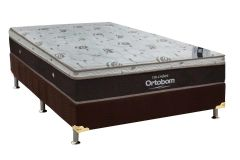 Conjunto Box: Colchão Ortobom Molas Pocket Sleep King Látex + Cama Box Nobuck Rosolare Café