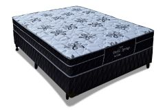 Conjunto Box: Colchão Probel Molas Pocket Perfil Springs Especial  + Cama Box Nobuck Nero Black