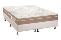 Conjunto Box: Colchão Polar Orthopremium Vip + Cama Box Courino White