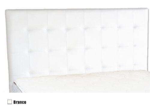 Cabeceira Cama Box MB Malú  0,88 Solteiro - Cor Branco