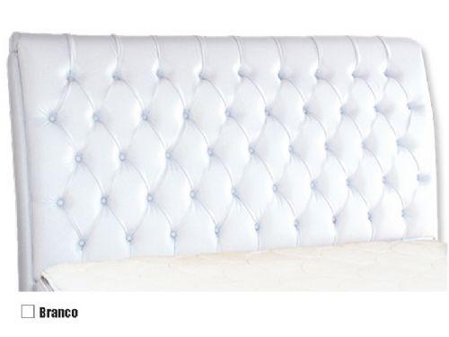 Cabeceira Cama Box MB Veranda Curva -  0,88 Solteiro  -  Cor Branco