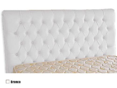 Cabeceira Cama Box MB Veranda Reta  0,88 Solteiro - Cor Branco