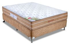 Conjunto Box: Colchão Orthocrin Molas Pocket Royal Saúde Anatomic + Cama Box Nobuck Rosolare Café