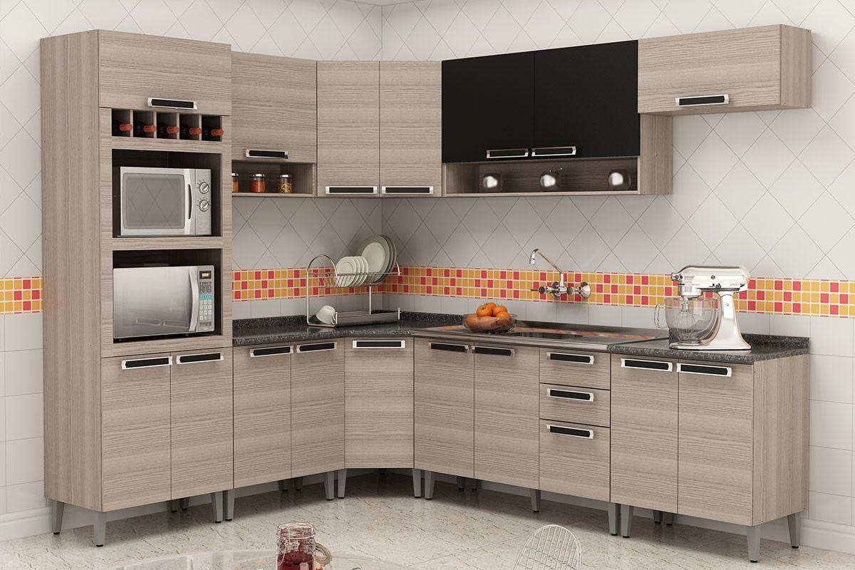 Cozinha Completa Itatiaia Jazz De Madeira C 9 Pe As Cz37 At 40