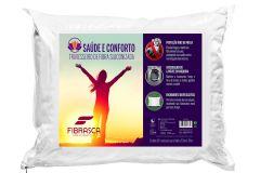 Travesseiro Fibrasca Saúde e Conforto Fibras Siliconizada c/ Íons de Prata Lavável