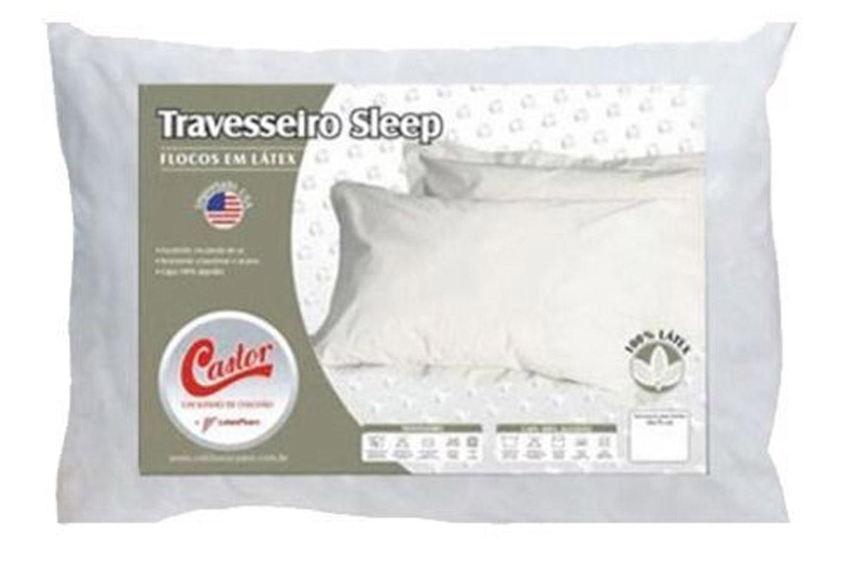 Travesseiro Castor Sleep Flocos de Látex 0,45x0,65