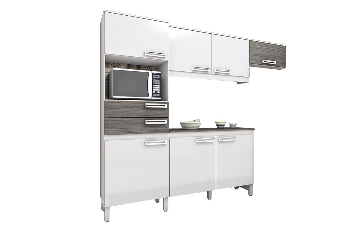 Cozinha Completa (Kit) Henn Briz B107 c/ 4 Peças 7 Pts e 2 Gav.