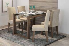 Sala de Jantar Mesa Cimol Anita 120cm c/ 4 Cadeiras Milena