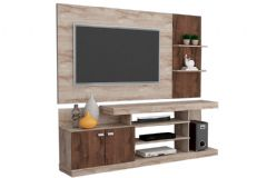 Home Theater Permóbili Viena p/ TV (Rack + Painel)
