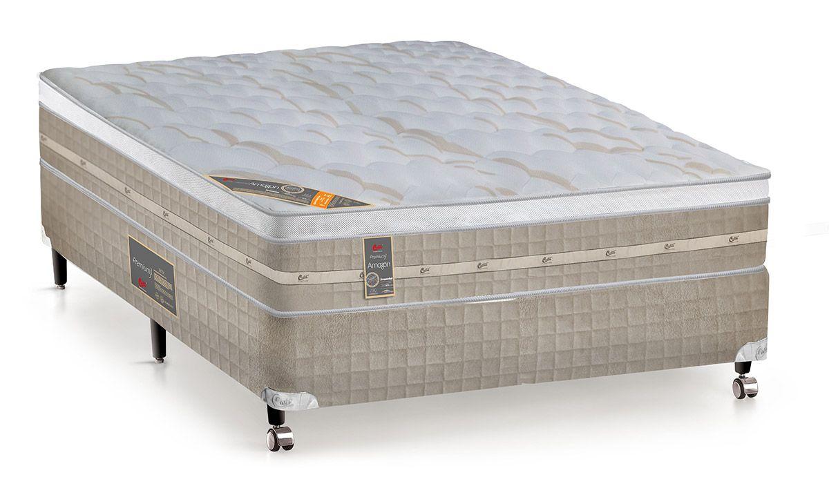 6303c8d02 Colchão Castor de Molas Pocket Premium Amazon Euro Pillow até 40 ...