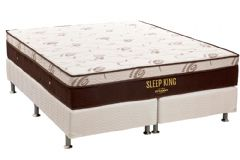 Conjunto Box: Colchão Ortobom Molas Pocket Sleep King Látex + Cama Box