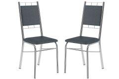 Cadeira Carraro 1724 Aço Cromada (Jogo c/2 Unidades)