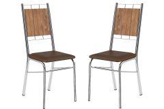 Cadeira Carraro 1723 Aço Cromada (Jogo c/2 Unidades)