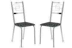 Cadeira Carraro 1722 Aço Cromada (Jogo c/2 Unidades)
