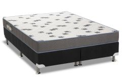 Conjunto Box: Colchão Ortobom Espuma D33 Light + Cama Courino Black